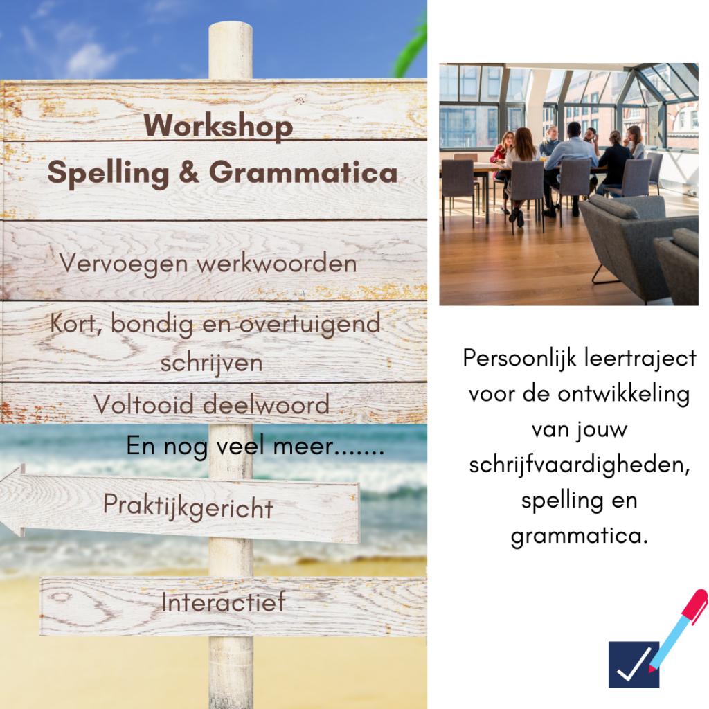 Workshop Spelling & Grammatica